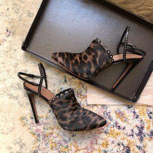 Alaïa Leopard-Print Calf Hair Slingback Pumps